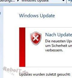 IT-Support bei einem Windows-Update-Fehler