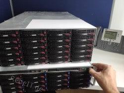 Vorderansicht eines Storage-Servers